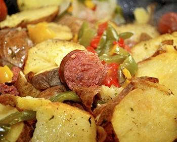 Linguiça Calabresa Gratinada Com Batatas